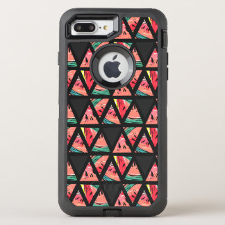 Hand Drawn Abstract Watermelon Pattern OtterBox Defender iPhone 8 Plus/7 Plus Case