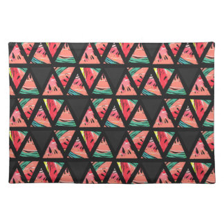 Hand Drawn Abstract Watermelon Pattern Placemat
