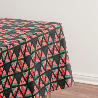 Hand Drawn Abstract Watermelon Pattern Tablecloth