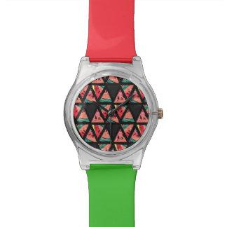 Hand Drawn Abstract Watermelon Pattern Watch