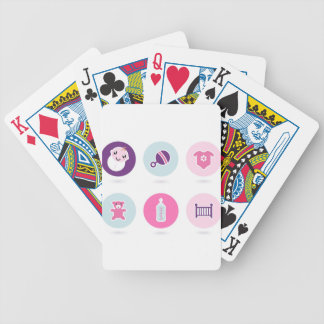 Hand-drawn Baby icons : Creative tshirts Shop Bicycle Playing Cards