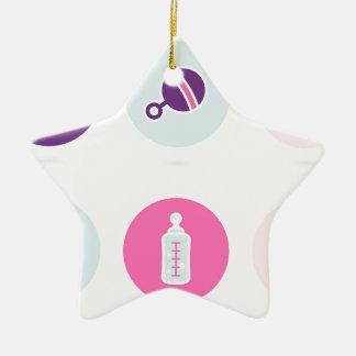 Hand-drawn Baby icons : Creative tshirts Shop Ceramic Ornament
