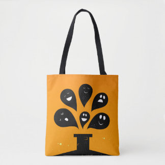 Hand drawn Bag with Ghosts