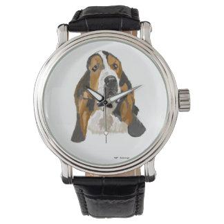 Hand drawn Basset Wristwatch