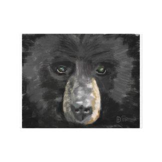 Hand Drawn Bear Canvas Print