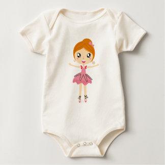 Hand drawn beautiful Ballerina pink Edition Baby Bodysuit