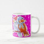 Hand-Drawn Birds - pink mug