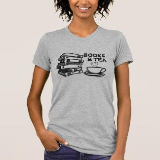 Hand drawn Books & Tea T-Shirt