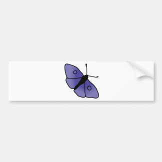 Hand Drawn Butterfly Bumper Sticker