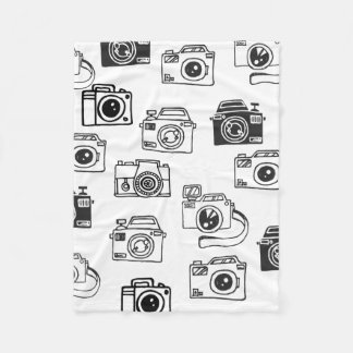 Hand drawn camera blanket photographer gift