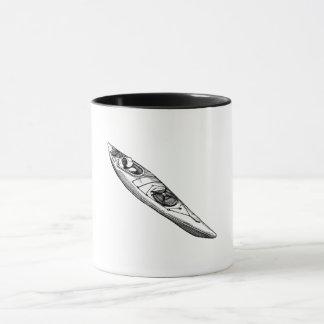 Hand Drawn Canoe Mug