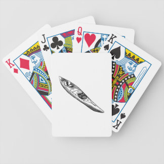 Hand Drawn Canoe Poker Deck