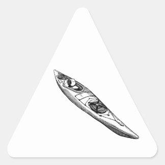 Hand Drawn Canoe Triangle Sticker