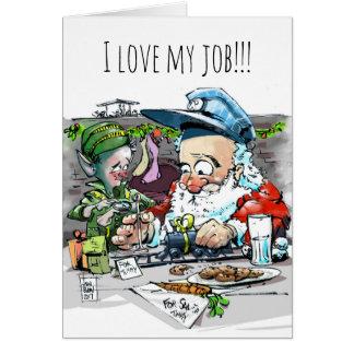 Hand drawn cartoon holiday card