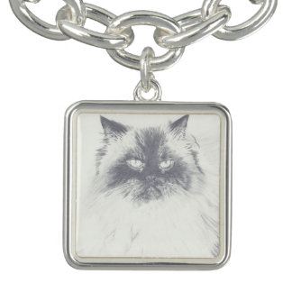 Hand Drawn Cat Charm Bracelet