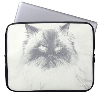Hand Drawn Cat Computer Laptop Sleeve