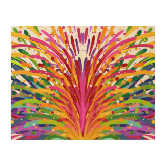 Hand Drawn Cheery & Colorful Wood Wall Art