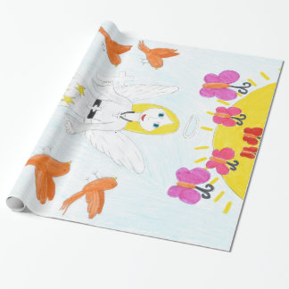 Hand drawn child's illustration. wrapping paper