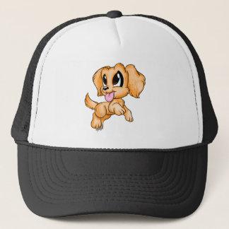 Hand Drawn Colored Golden Retriever Dog Art Hat