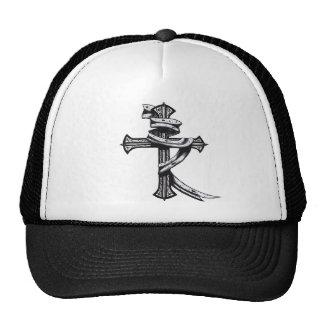 Hand Drawn Cross Trucker Hat