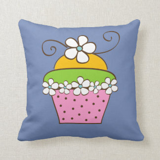 Hand Drawn Cucake Throw Pillow