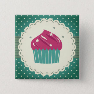Hand drawn cute Button with cake