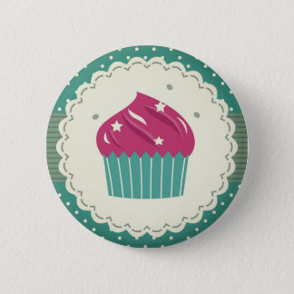 Hand-drawn cute Button with Muffin