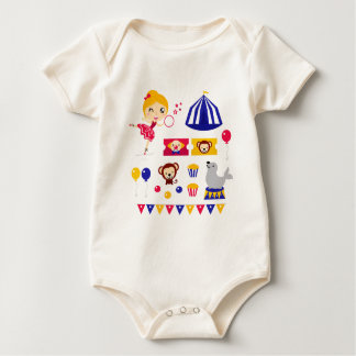Hand drawn cute Circus edition : Ballerina stuff Baby Bodysuit