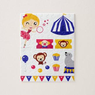 Hand drawn cute Circus edition : Ballerina stuff Jigsaw Puzzle