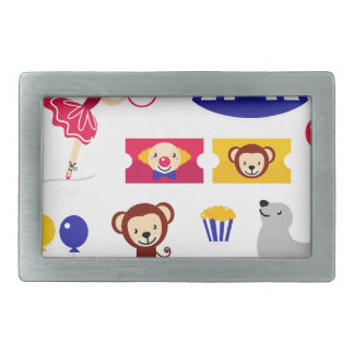 Hand drawn cute Circus edition : Ballerina stuff Rectangular Belt Buckles