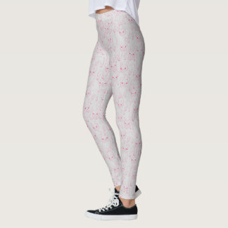 Hand Drawn Cute Frenchies Collage Leggings