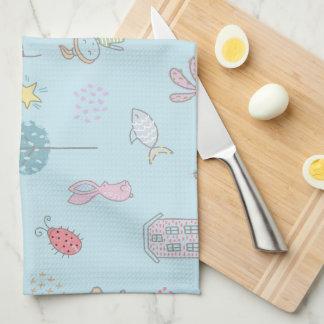 Hand Drawn Cute Stuff ID360 Kitchen Towel