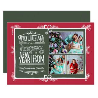 Hand Drawn Decorative Holiday Photo Card