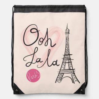 Hand Drawn Eiffel Tower Drawstring Bag