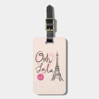 Hand Drawn Eiffel Tower Luggage Tag