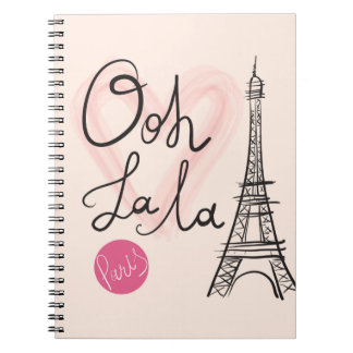 Hand Drawn Eiffel Tower Notebook