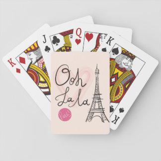 Hand Drawn Eiffel Tower Poker Deck