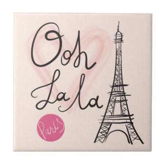 Hand Drawn Eiffel Tower Tile