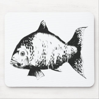 Hand drawn fish mouse pad