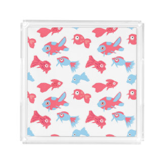Hand drawn fishes perfume tray