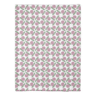 hand-drawn floral pattern duvet cover