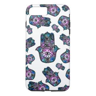 hand drawn floral watercolor Hamsa hand of Fatima iPhone 7 Plus Case