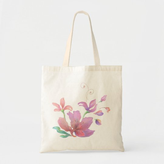 Hand-Drawn Flower Bag