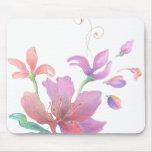 Hand-Drawn Flower Mousepad