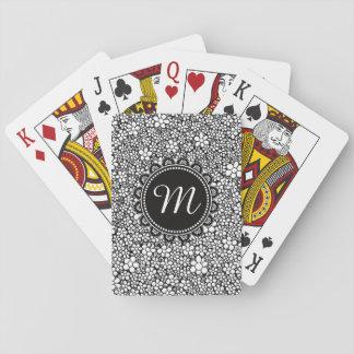 Hand Drawn Flower Pattern Poker Deck