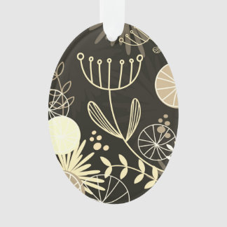 Hand drawn Folk herbs on acrylic