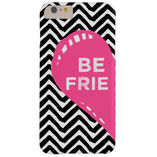 Hand Drawn Friends Left Side Heart Chevron Barely There iPhone 6 Plus Case