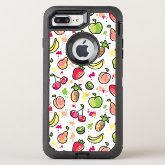 hand drawn fruits pattern OtterBox defender iPhone 7 plus case