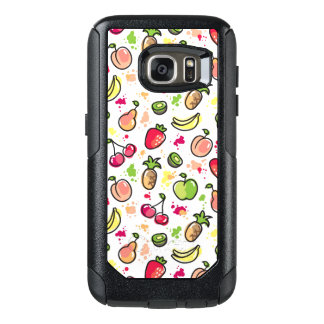 hand drawn fruits pattern OtterBox samsung galaxy s7 case