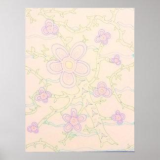 Hand-drawn Garden Poster (Pastel)